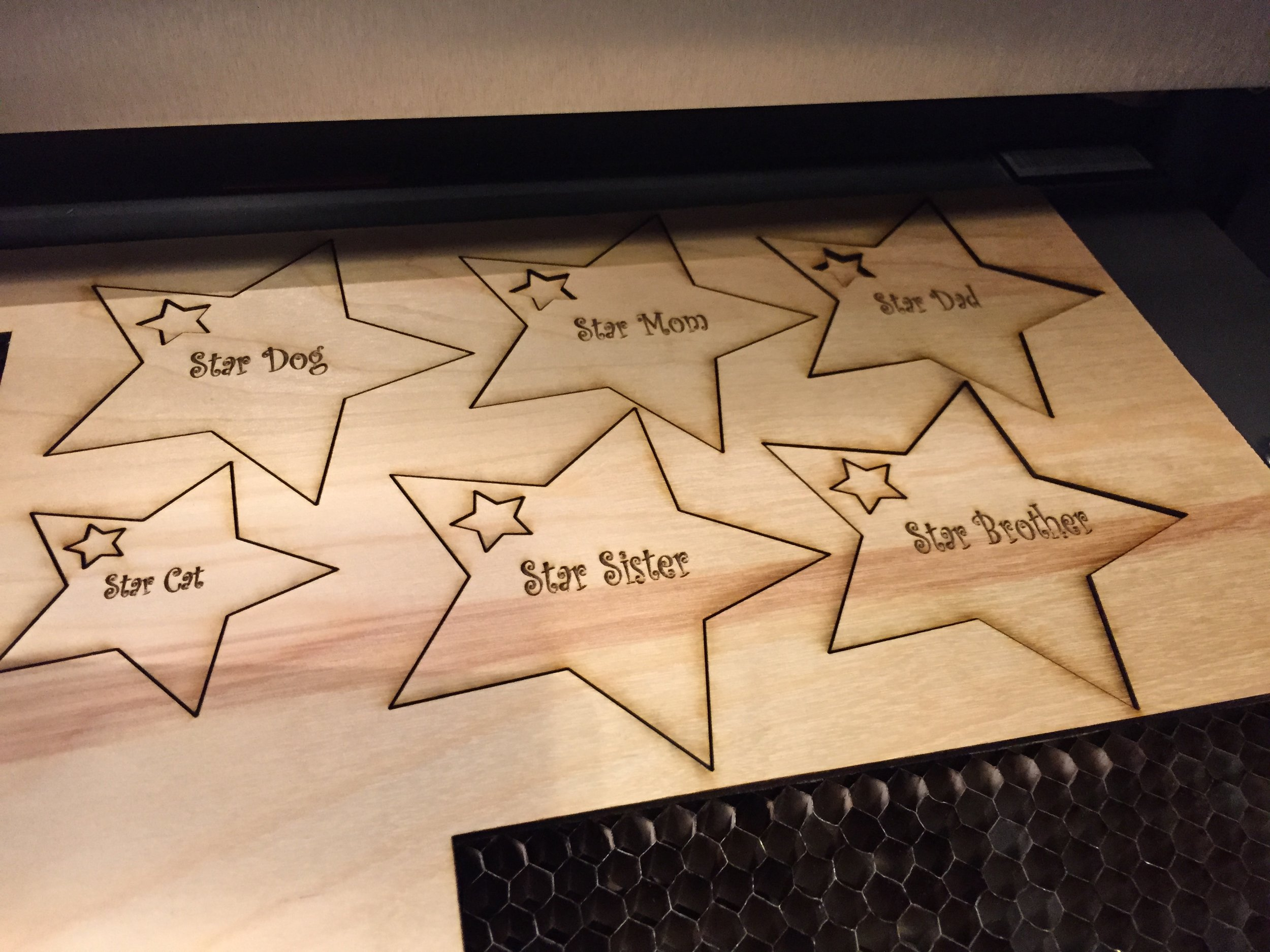 Laser-cutting gift tags, Intel Computer Clubhouse
