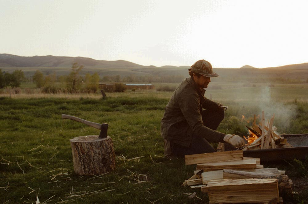 My favorite part of a good meal is building the fire!  PHOTO: Justin Tyler Close