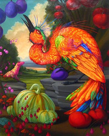 Untitled Love Birds! Orange Tourmaline