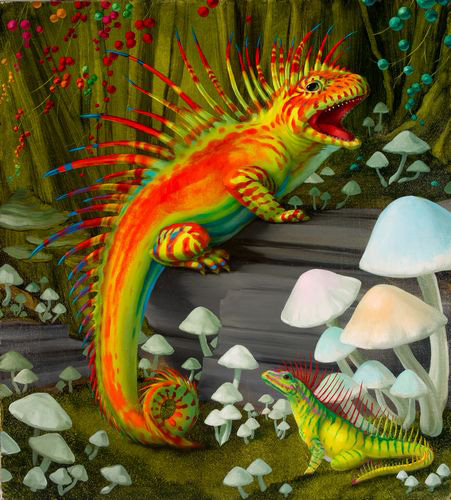 A Lizard Seeking Psychotropic Plant - Hamptons Collection