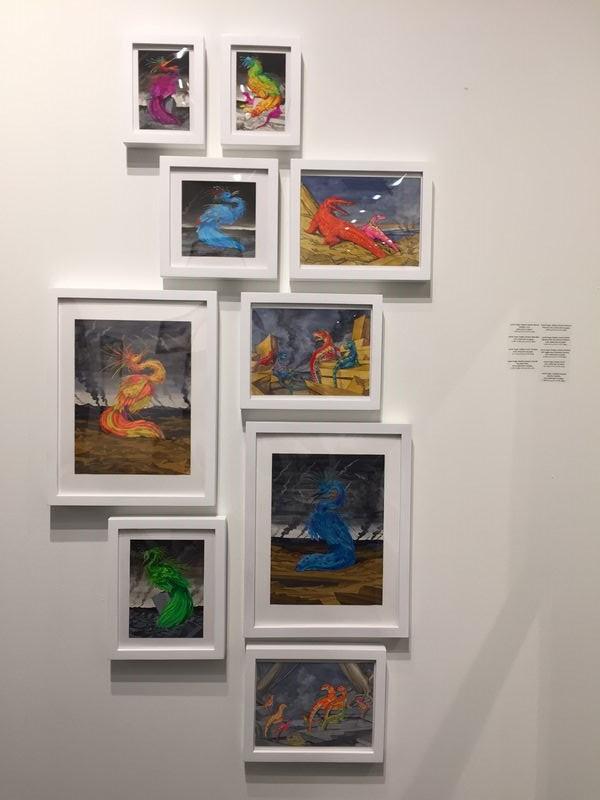 Grouping of Hogin watercolors