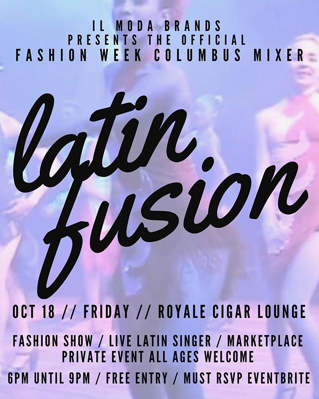 Our 6th Annual Industry Mixer is back💥  Our theme this year is LATIN FUSION! With a Live performance by an incredibly talented artist (to be revealed soon) and a night full of Latin vibes, Tropicana feels and Miami moods.. join us as we celebrate 10 years of Fashion Week Columbus @fashionweekcolumbus! #ilmodabrands #ilmodapr #linkinbio #latinfusion