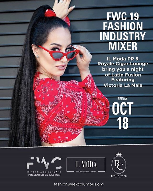 So excited to host our 6th annual mixer for @fashionweekcolumbus! We welcome @victorialamala as our feature performance during the fashion show at @royalecigarlounge! Fashion Week kicks off tomorrow! Fashionweekcolumbus.org #fashionweekcolumbus #ilmodapr #ilmodabrands #columbusisfashion #lifeiscbus