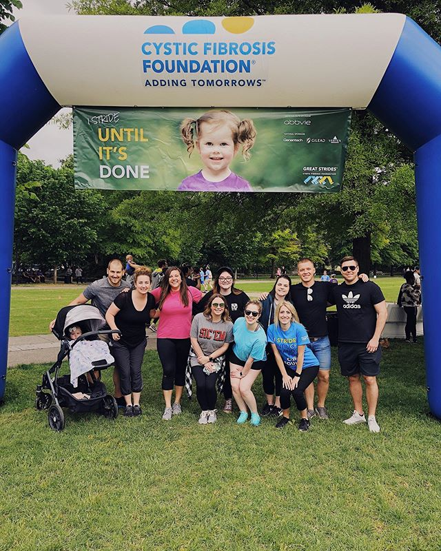 Had the best time walking for a cure with @cf_foundation and our girl @alybobb! #GreatStrides #CysticFibrosis 💪🏻💙💛