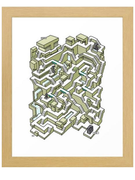 Maze prints at my Society 6 shop