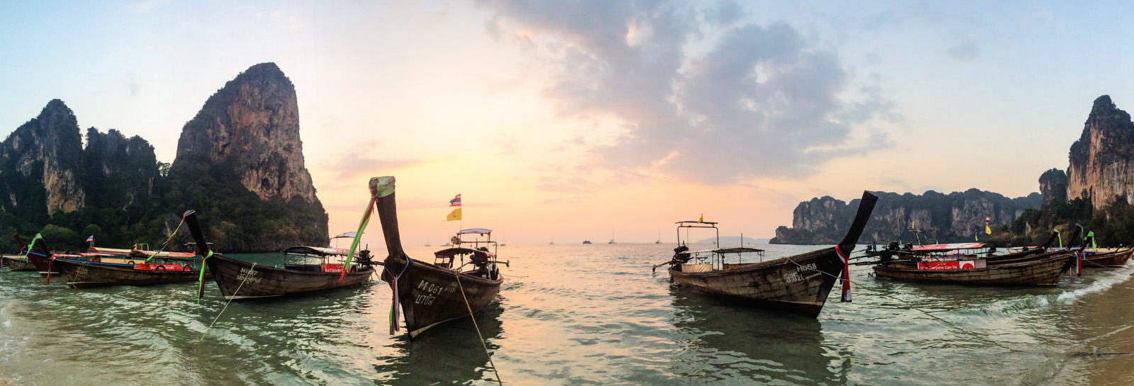Longboats on Railay West