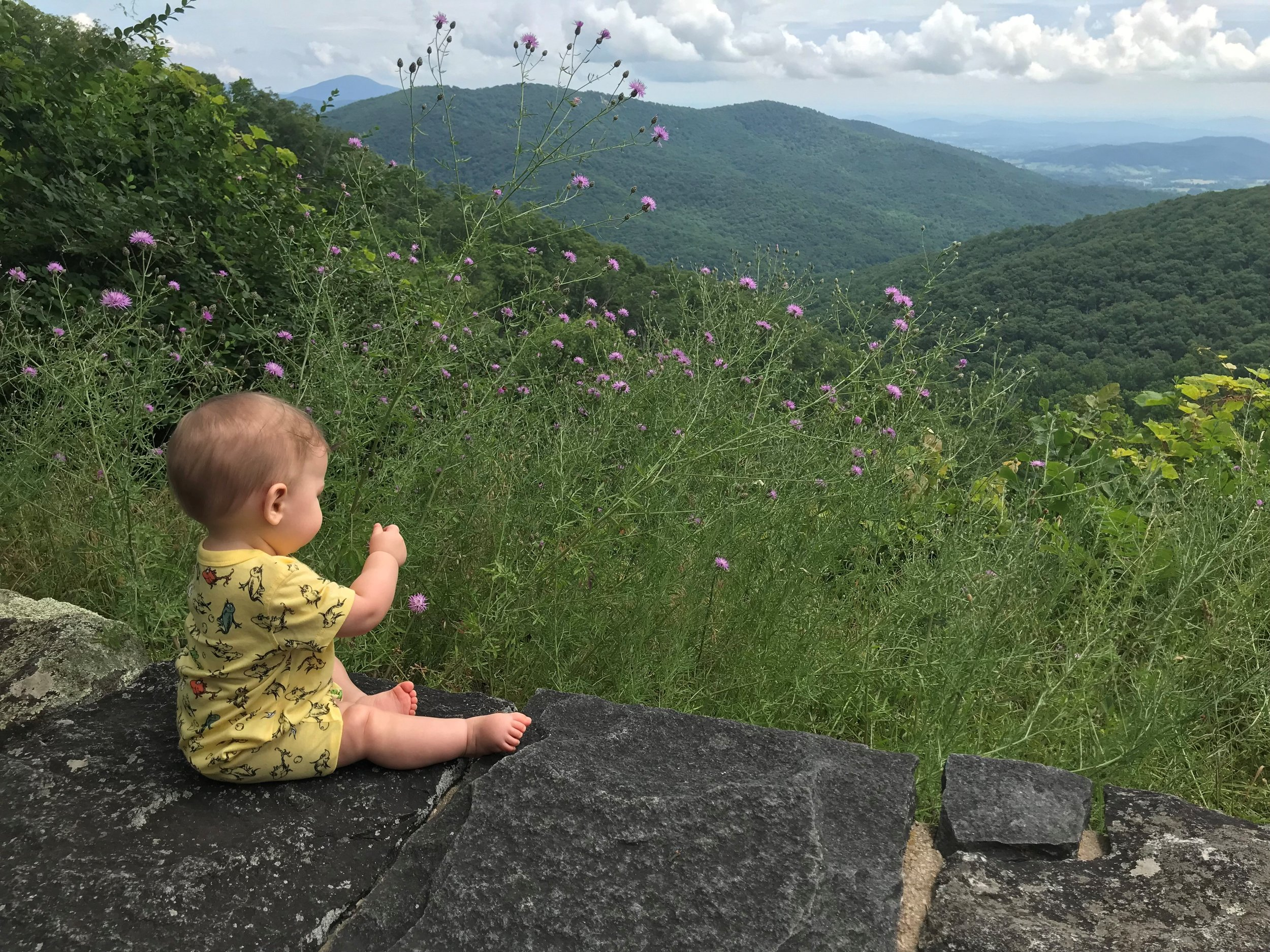 Our new baby enjoying vacation in Virginia