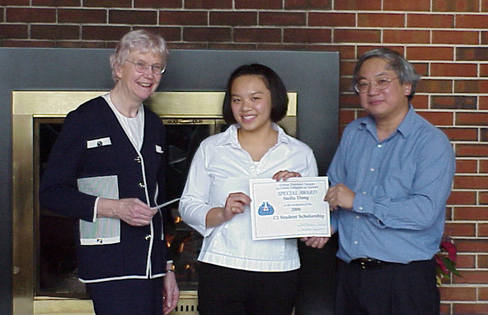 When Keyano student Stella Dang was unable to attend the C3 conference to receive her 2000 C3 Student Scholarship I turned to Margaret-Ann and Norman Gee to make the presentation to her. Margaret-Ann went so far as to take Stella (then in second year) to lunch at the U of A Faculty Club and presented the scholarship to her there. —With thanks to Bill Blann for this submission.