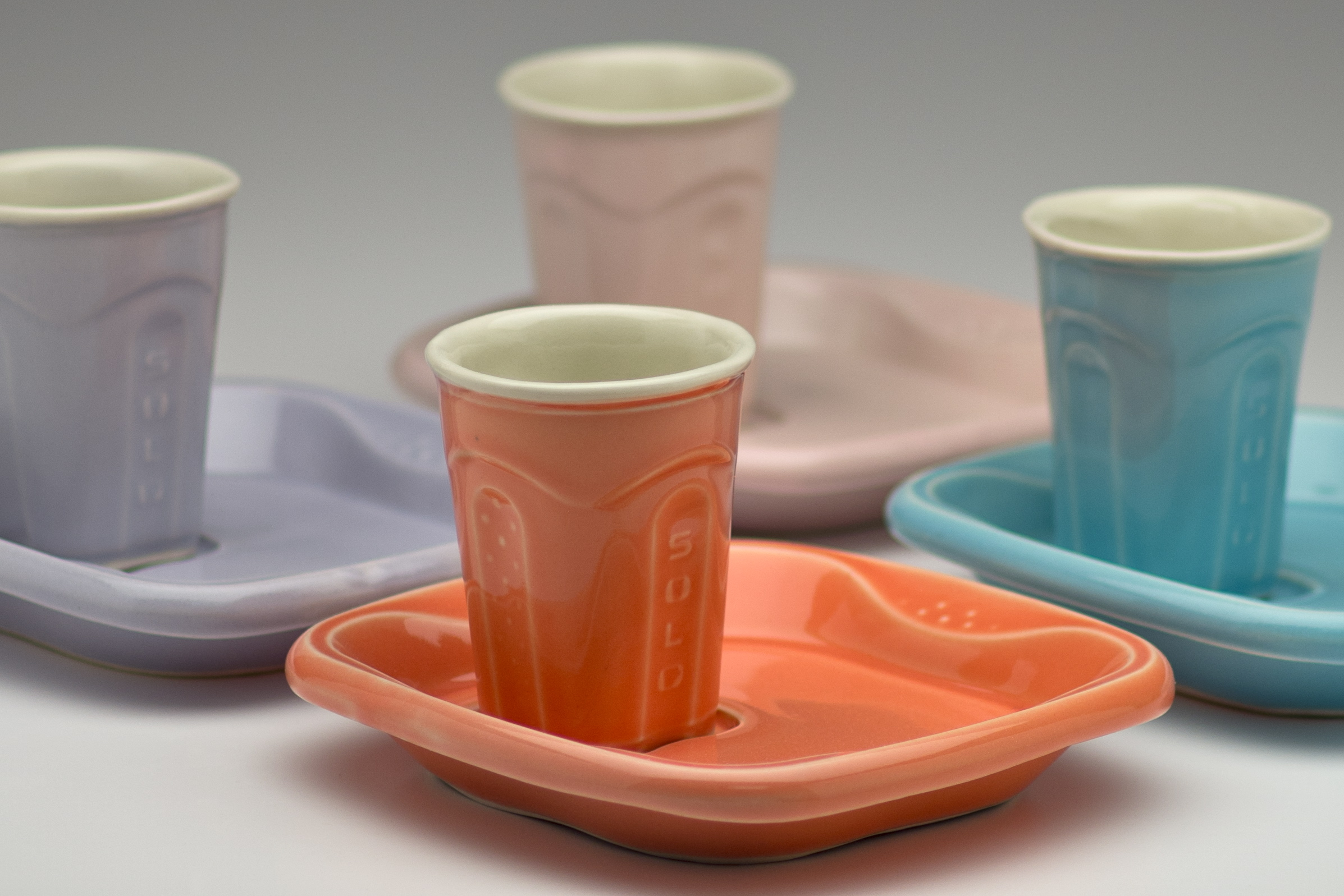 Solo Cup and Saucer Sets, Detail