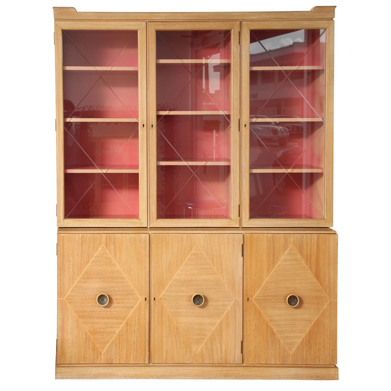 Love this Tommy Parzinger Sideboard. The coral surprise in the interior is just right.