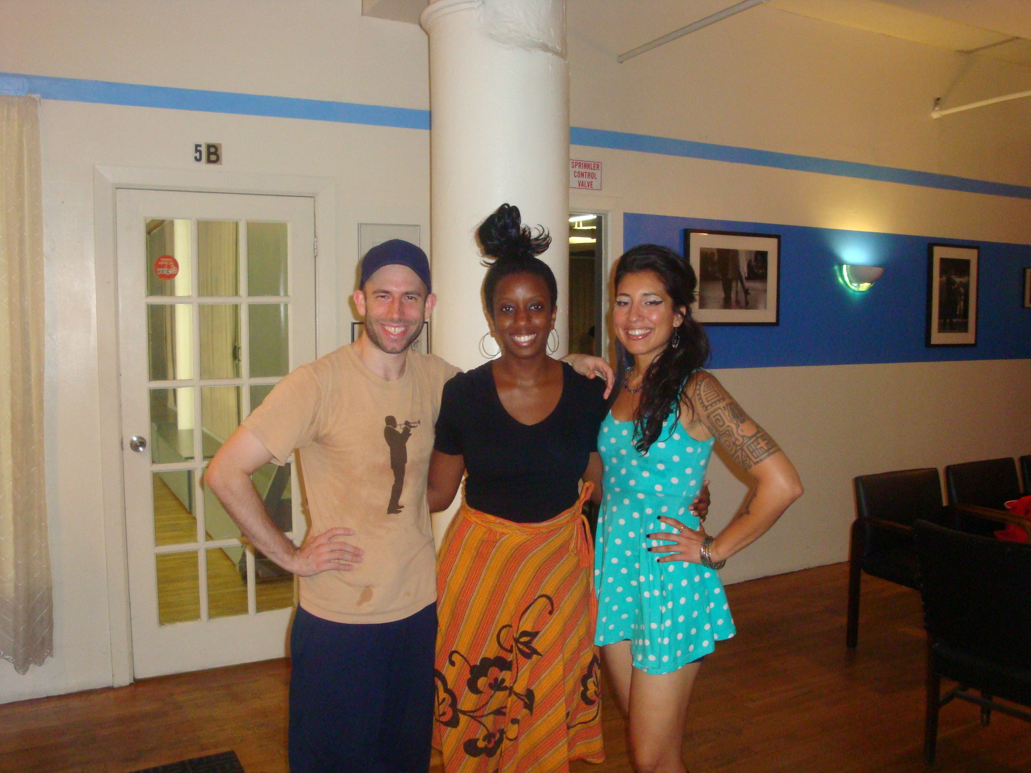 With Nathan Bugh and Giselle Anguizola