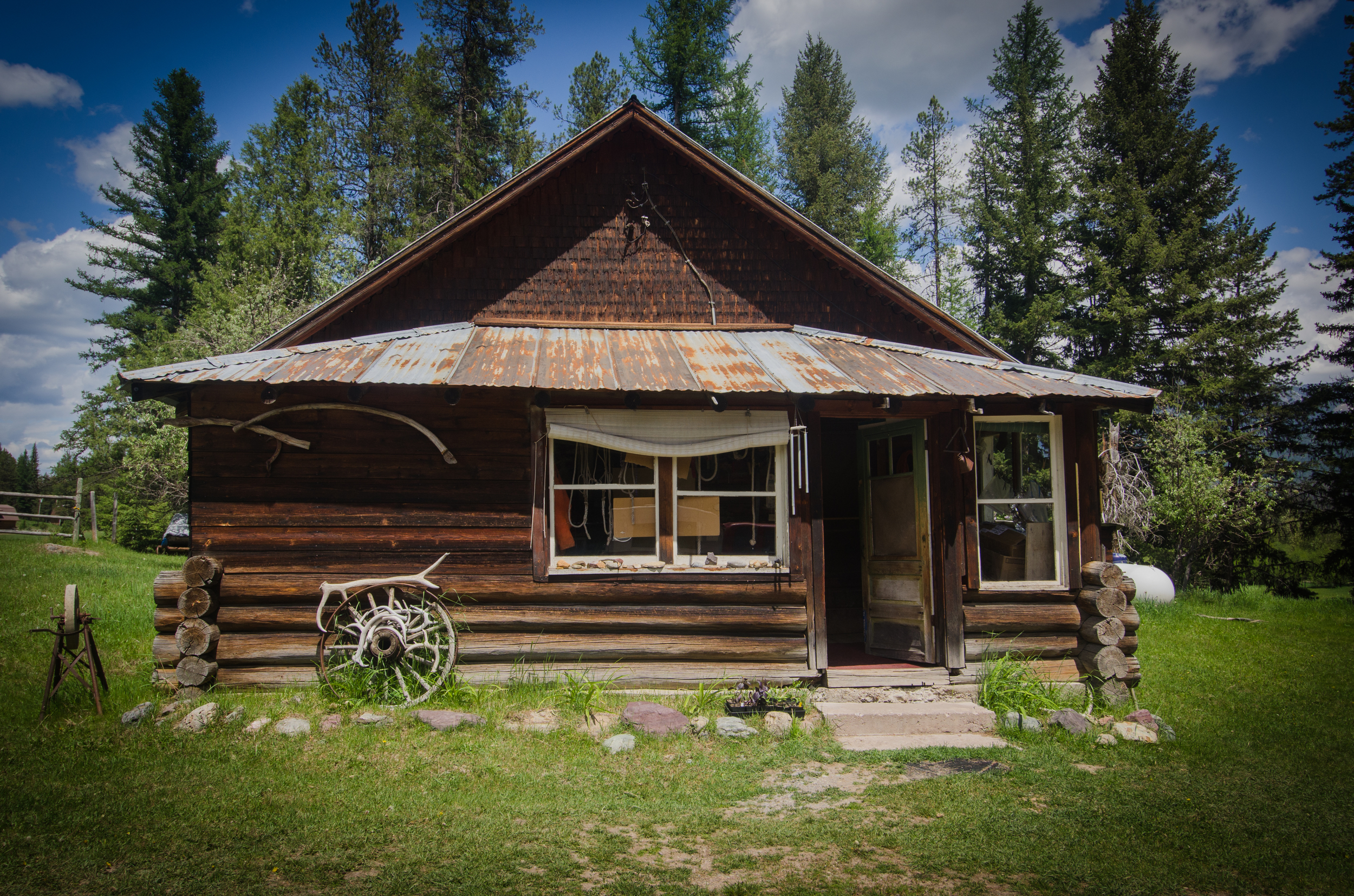 The original Beck Homestead Cabin still exists on our campus.