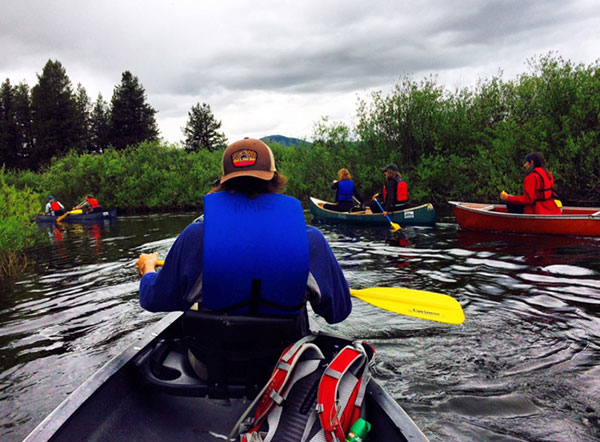 Canoeing Clearwater Creek