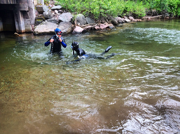 Snorkeling in Dunham Creek