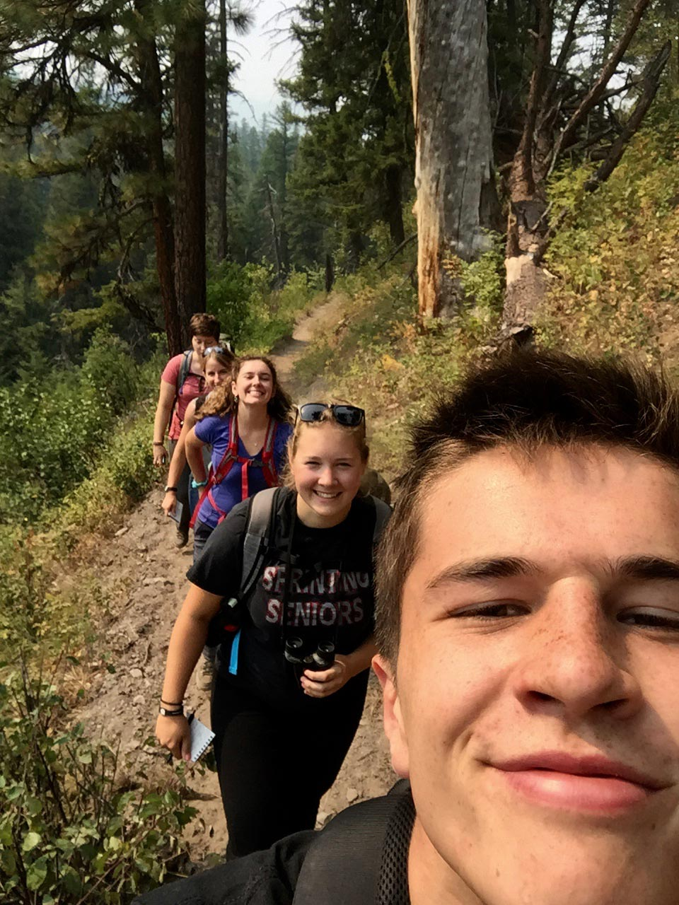 Selfie on the hike up to Napa Ridge