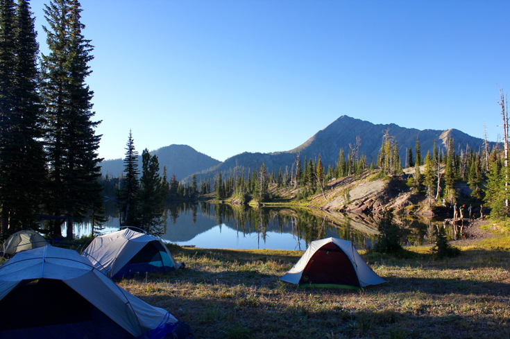 Camping spot at Sapphire Lake .    Photo by Meredith Fraser