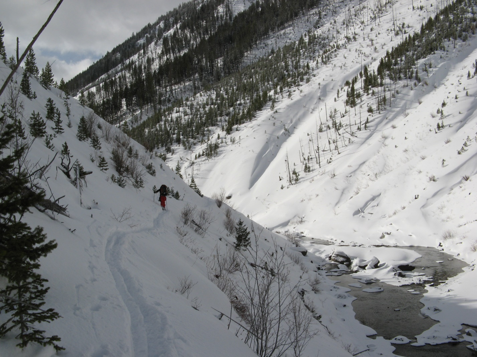 Backcountry survey up the North Fork of Blackfoot River. 2013