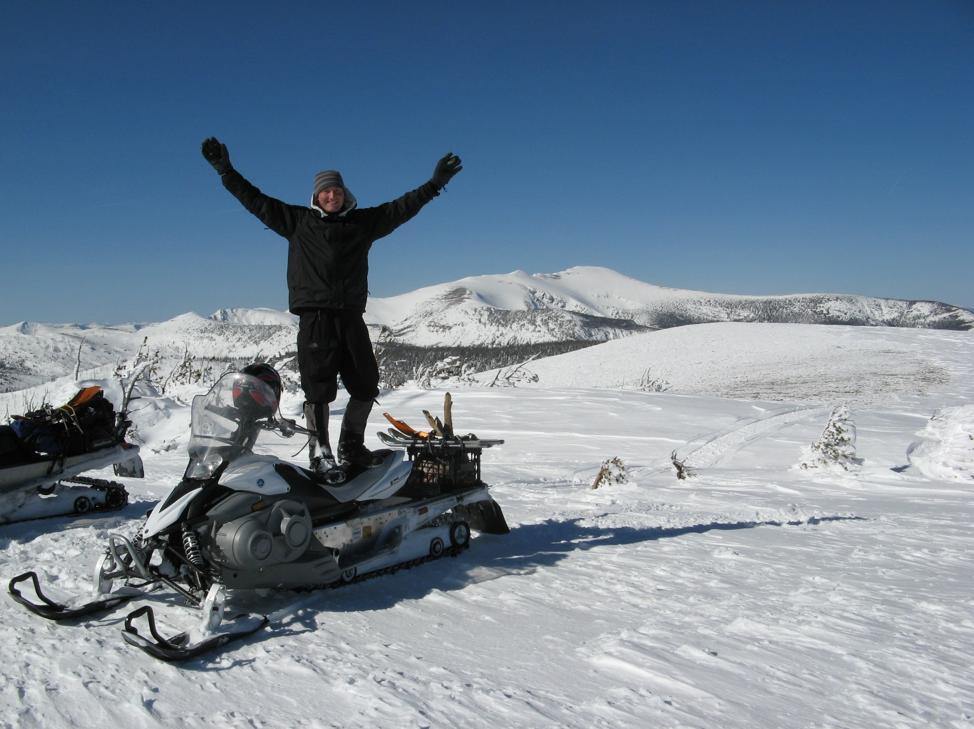 Luke Lamar on top of Stonewall Mountain.