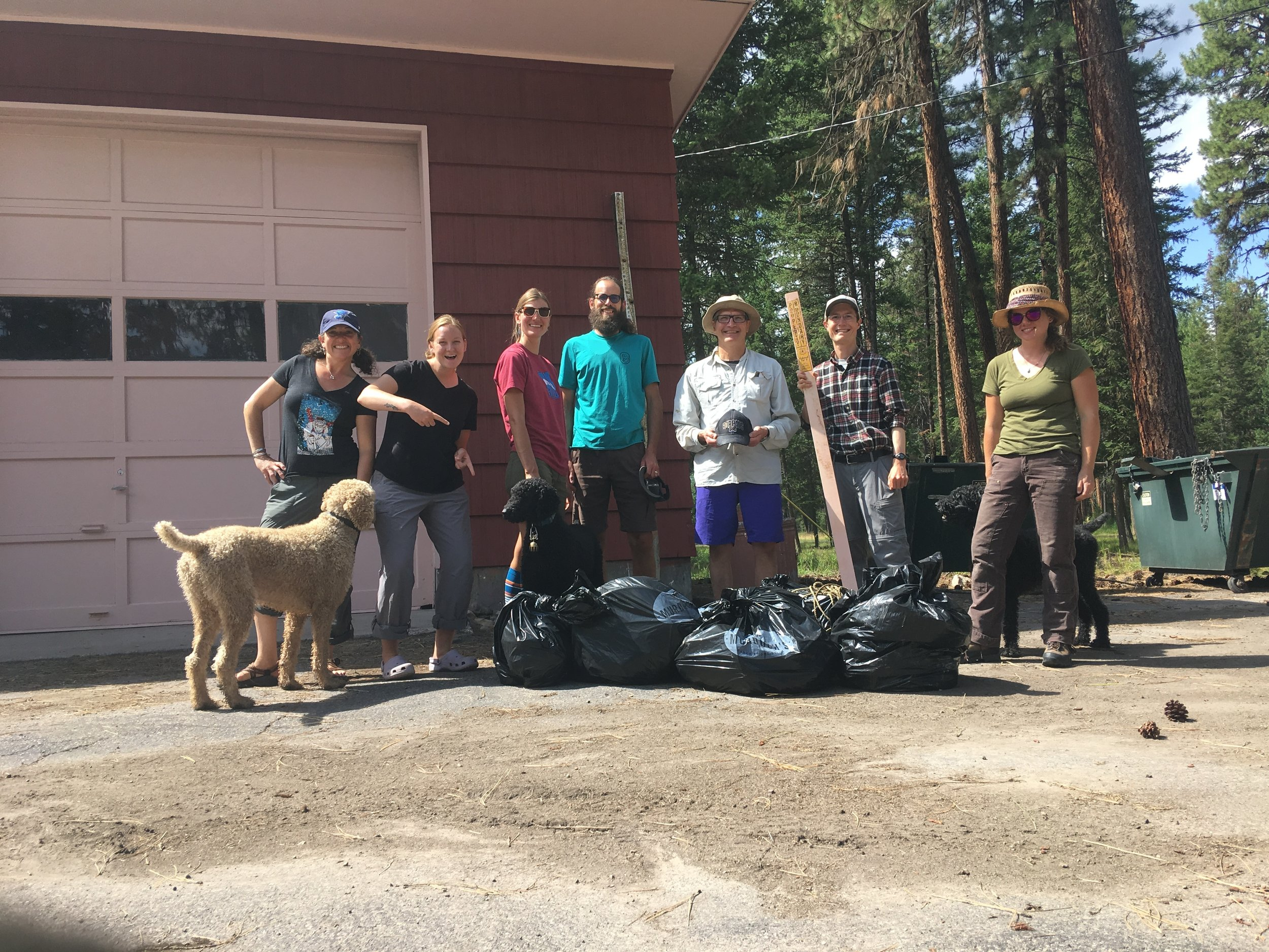 Here are seven of our eleven volunteers who participated in our debut river cleanup – thanks to Rebecca, Caitlyn, Apryll, Joost, Dan, Laura, Mike, Luke, Sharon, and Steve for all your efforts!