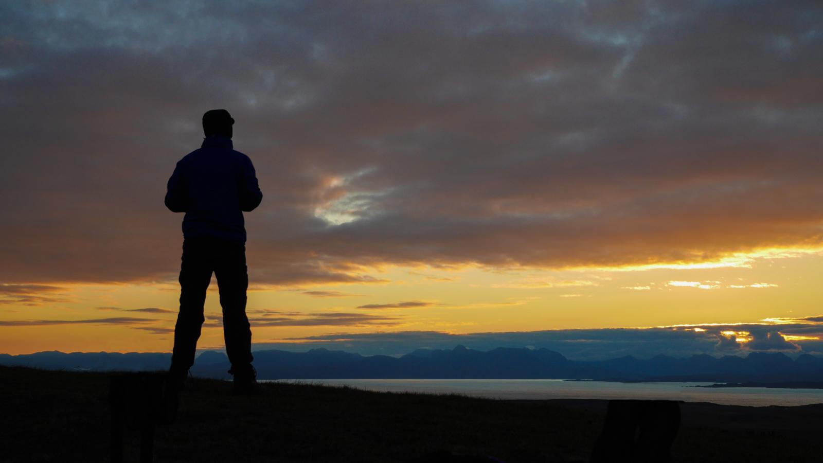 Tim Looking Towards the Mainland