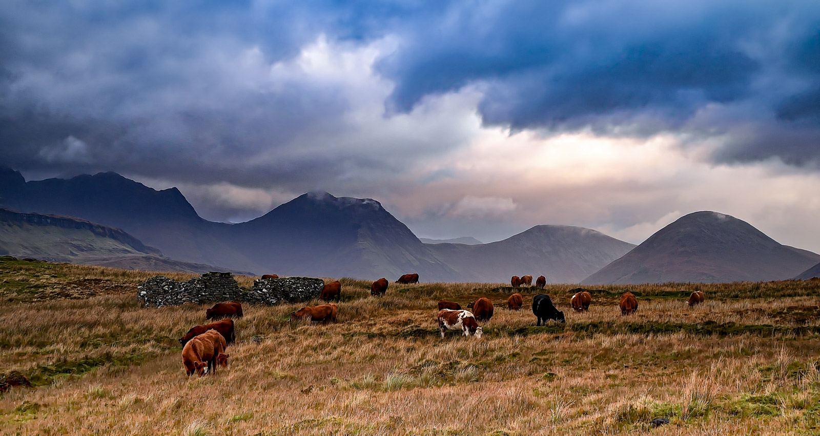 The Red Cuillins from Suisnish