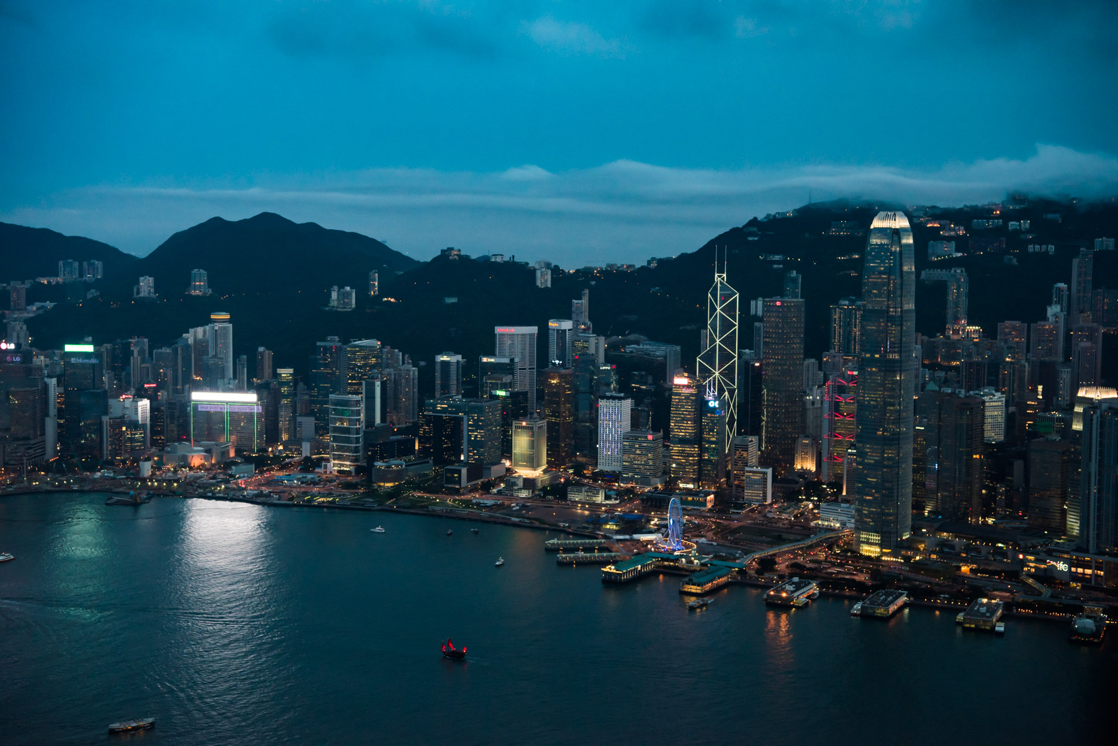 Hong Kong Island from ICC