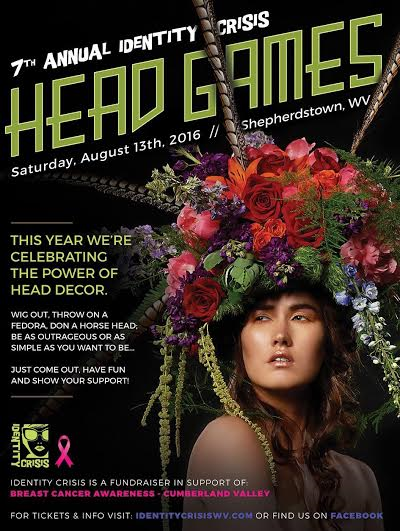 Join Westvirjeni at her home studio for a fun evening out and go home with new friends and your Identity Crisis costume headpiece!Local eats and fun drinks, design inspiration, instruction, and supplies provided for wearable floral headpieces.A portion of the proceeds will be donated to the 2016 IDC fundraiser. Limited space available, register via email to westvirjeni@gmail.com! Event cost is $100