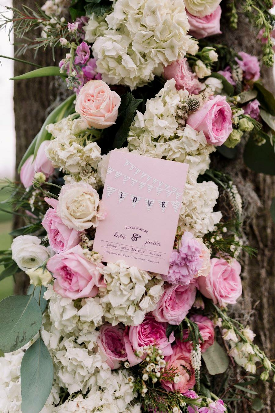 Beautiful invitation suite from Minted.com