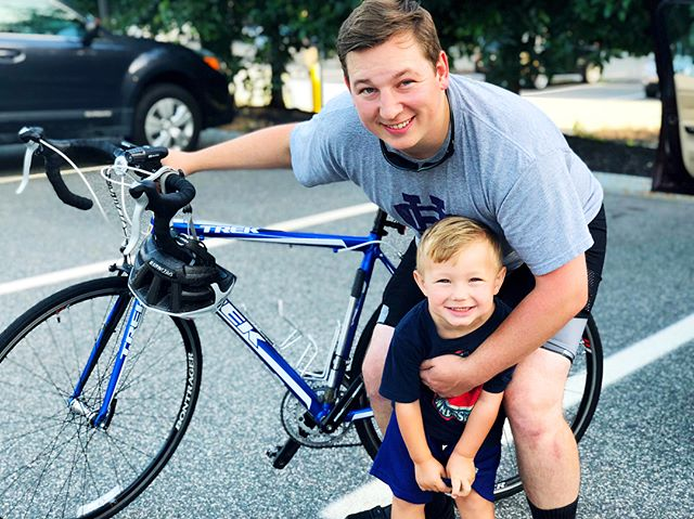 Grateful my son has a father who builds him up. Today, my husband begins a 160+ mile bike ride in the Pan Mass Challenge. He's dedicated his ride and fundraising to a colleague suffering from an aggressive high-grade pancreatic neuroendocrine carcinoma - she was diagnosed the same week she gave birth to her second child. Help my hard working guy build her up today! If you are able to donate, follow the link in my profile, or the following link: http://profile.pmc.org/JM0952