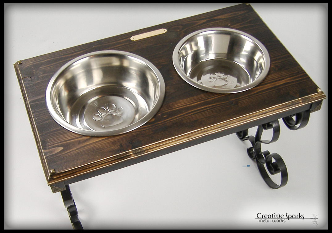 Elevated Pet Feeder by Creative Sparks Metal Works