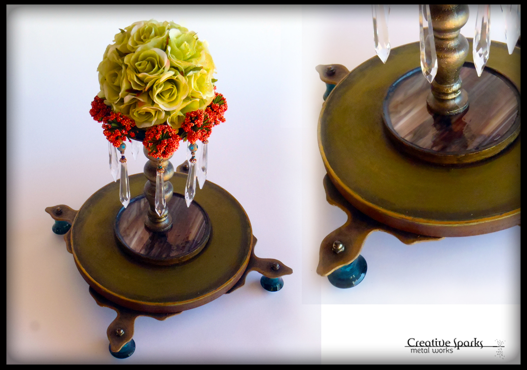 Floral Centerpiece by Creative Sparks Metal Works