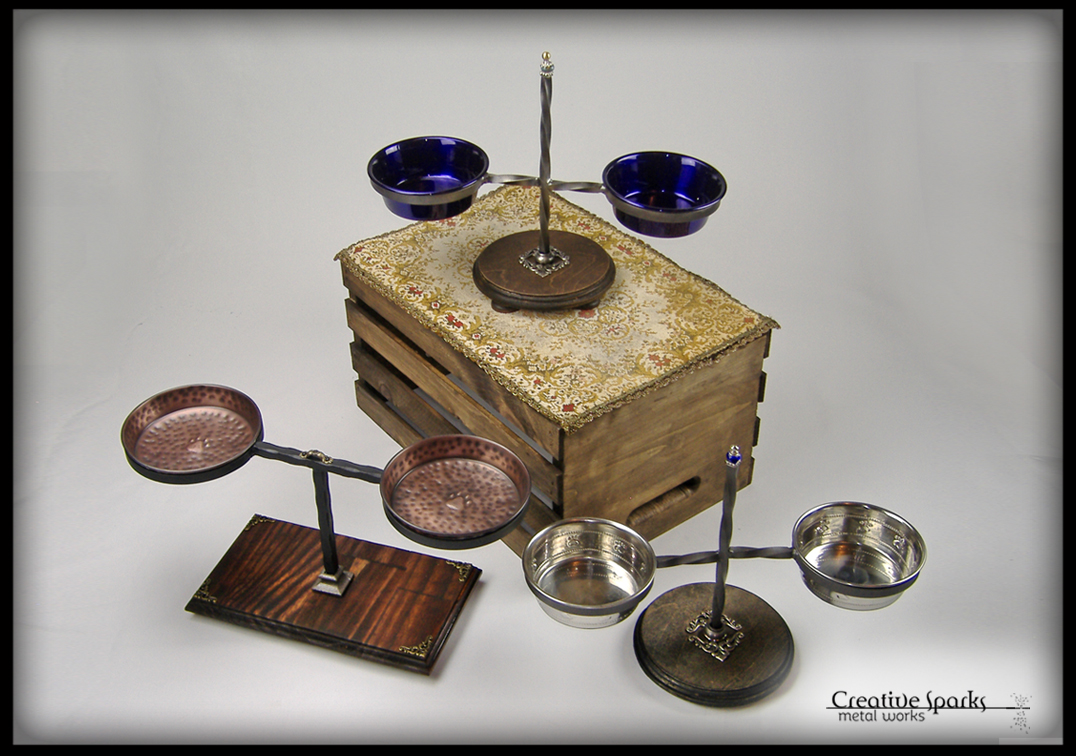 Small Elevated Pet Feeders by Creative Sparks Metal Works