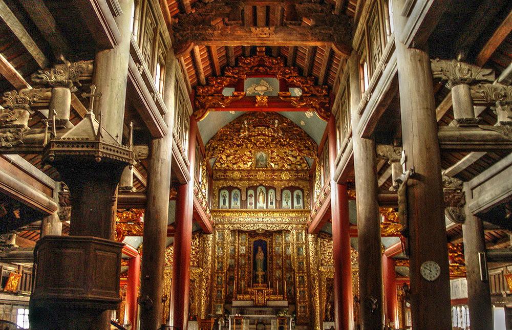 Phat Diem Cathedral.