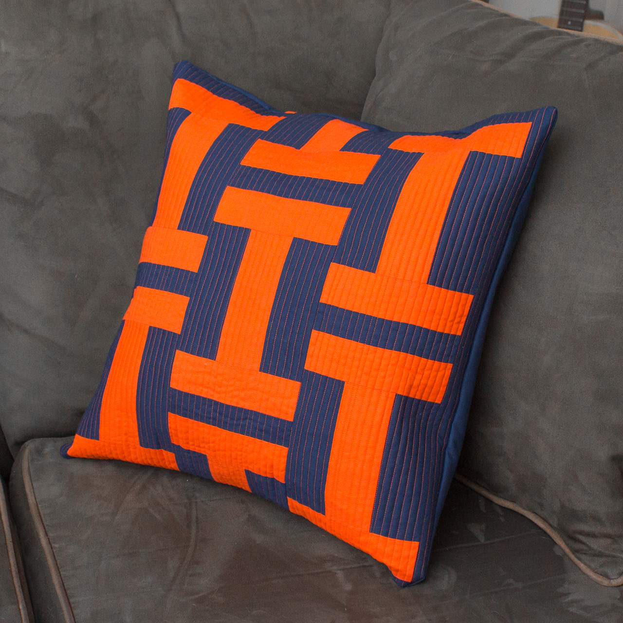 UNIVERSITY OF ILLINOIS PILLOW Based on a Pattern by GE Designs