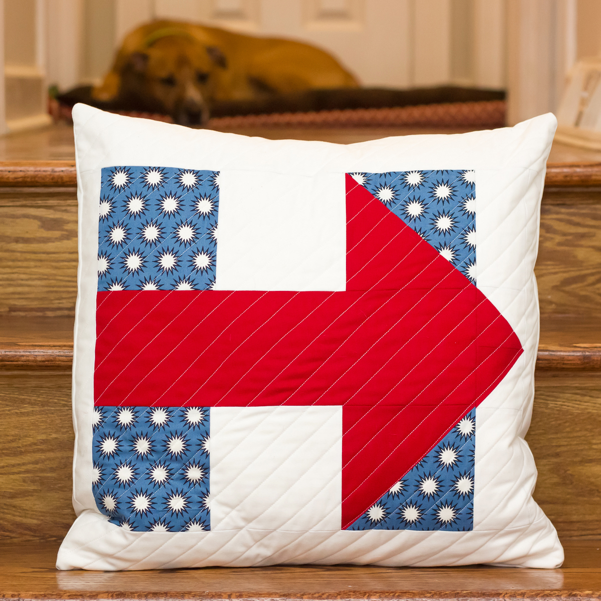 I'M WITH HER QUILTED PILLOW Pattern by Oh Sew Angelina