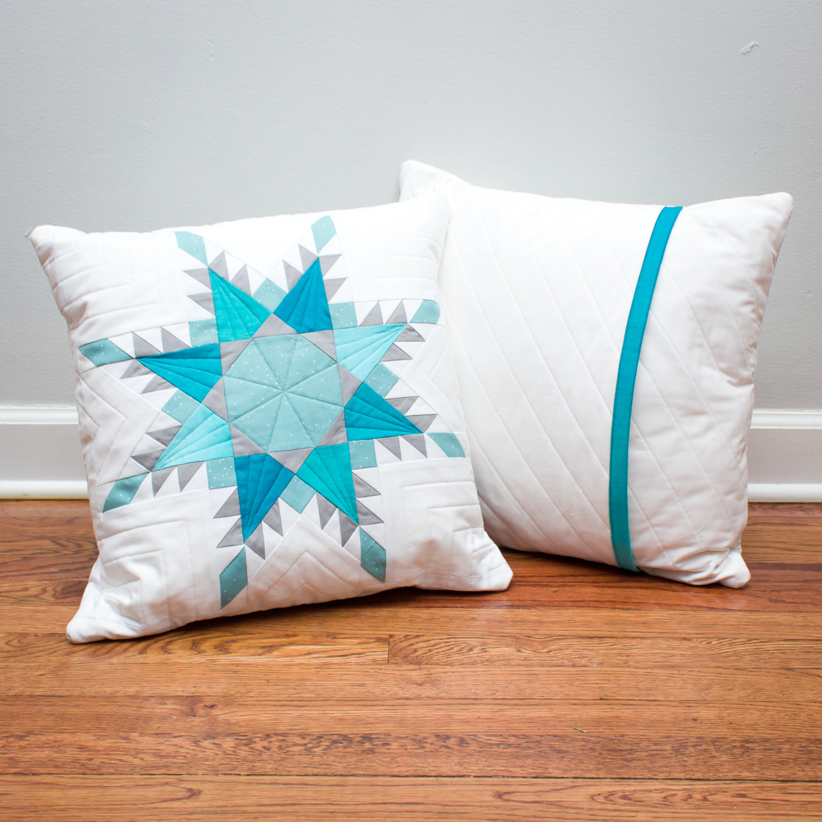 FIERCE FEATHERED STAR PILLOWS Pattern by Threaded Quilting