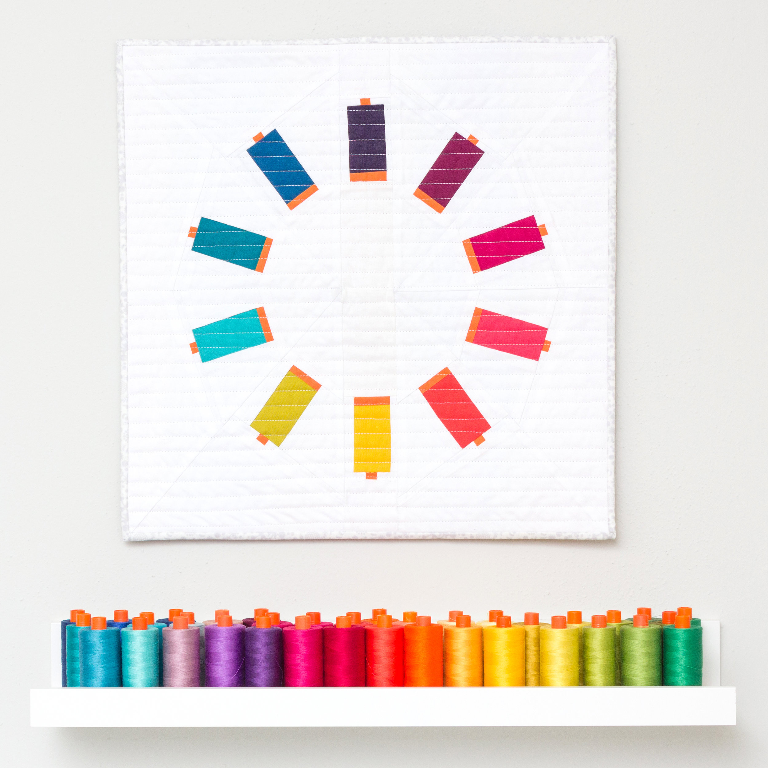 SEW MANY COLORS MINI QUILT Pattern by Whole Circle Studio