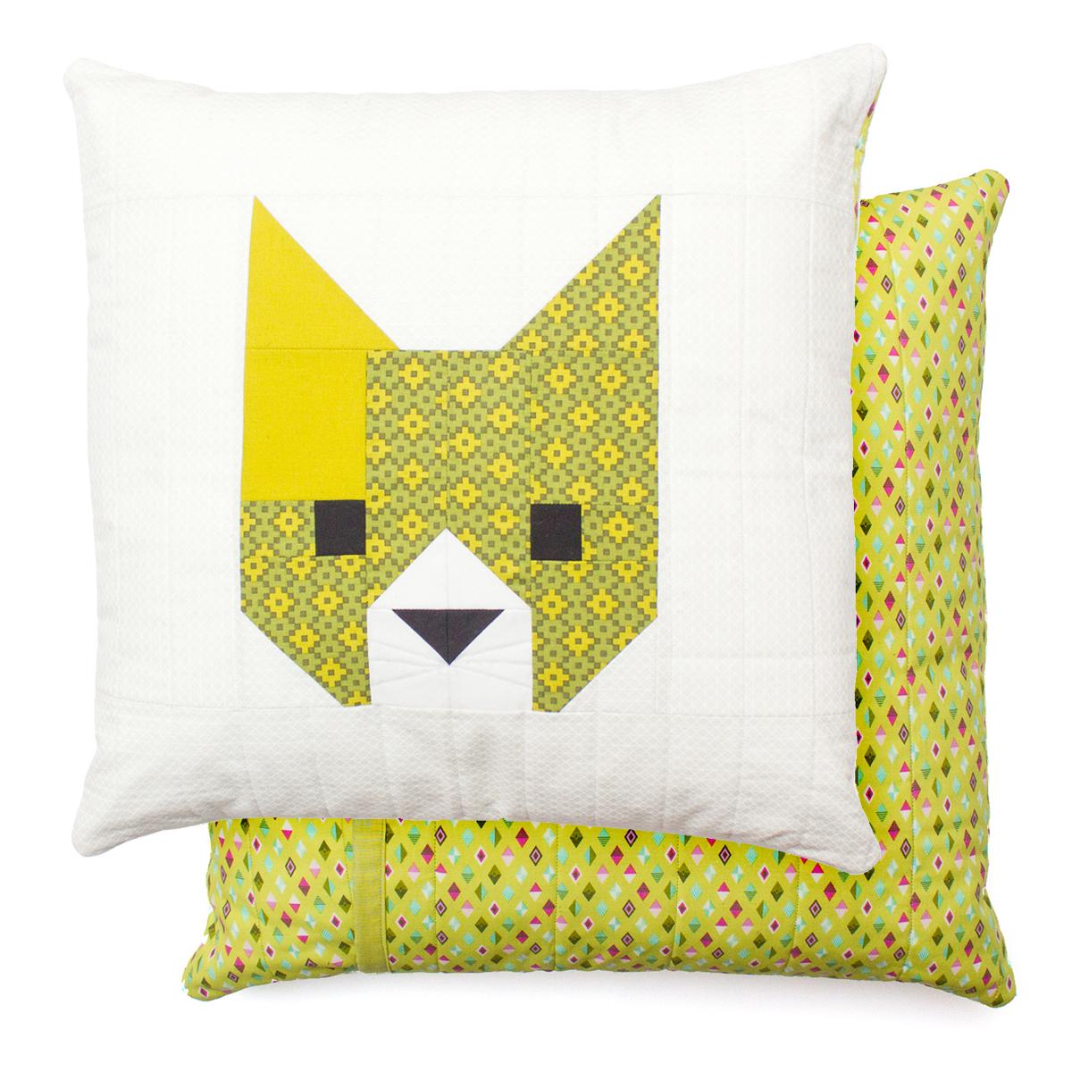 CAT PILLOW Pattern by Elizabeth Hartman