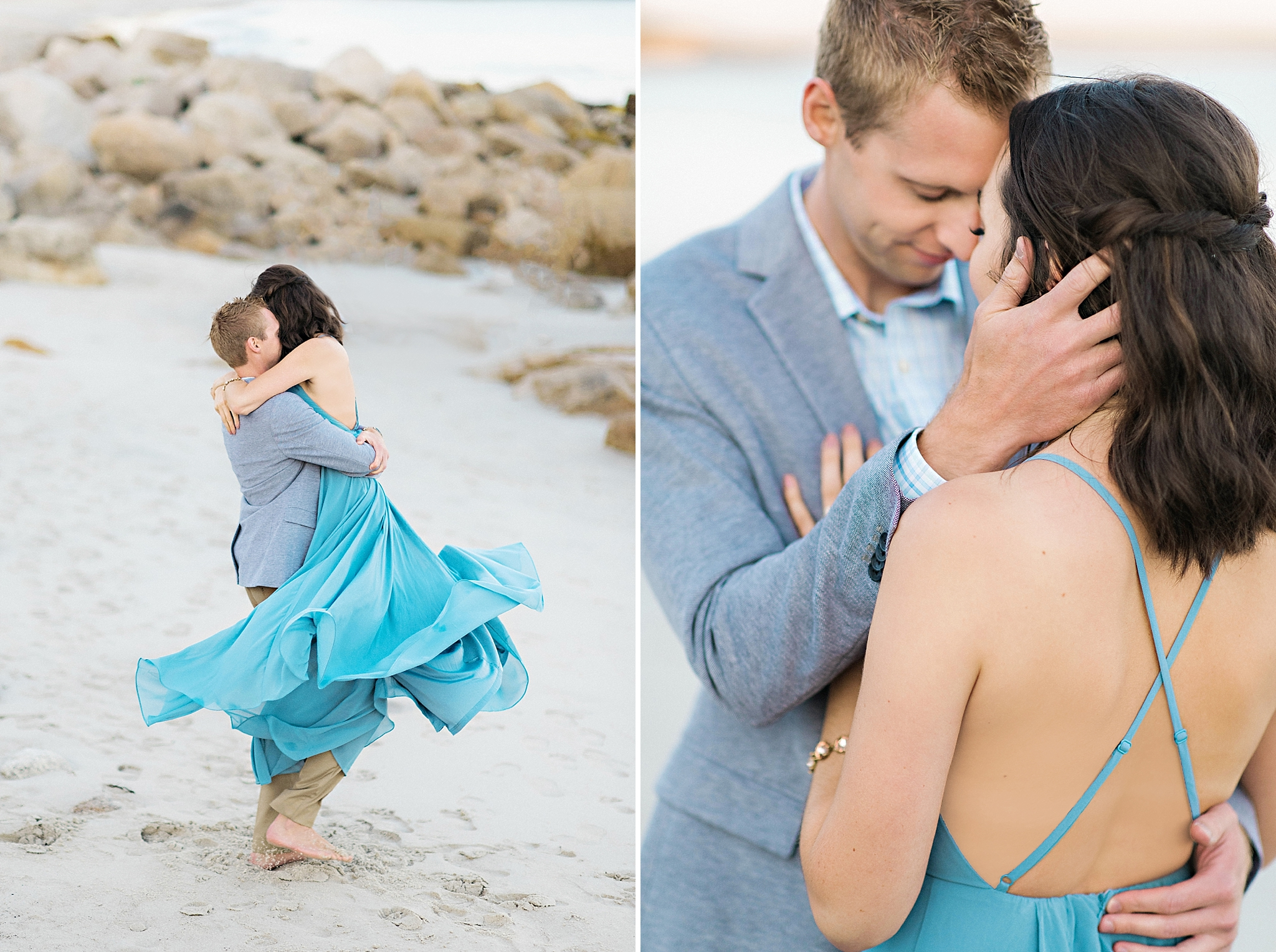 Romantic Seaside Beach Engagement Shoot in Lulu's long flowy maxy dress_032.jpg