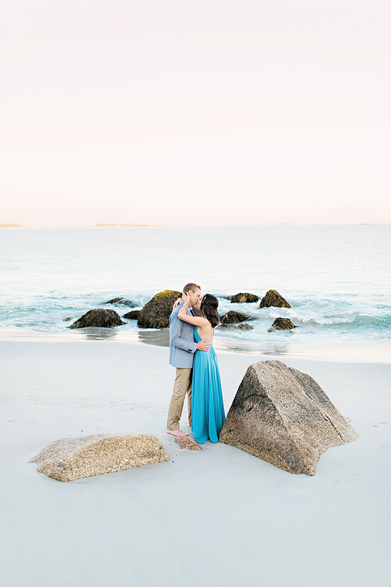 Romantic Seaside Beach Engagement Shoot in Lulu's long flowy maxy dress_035.jpg