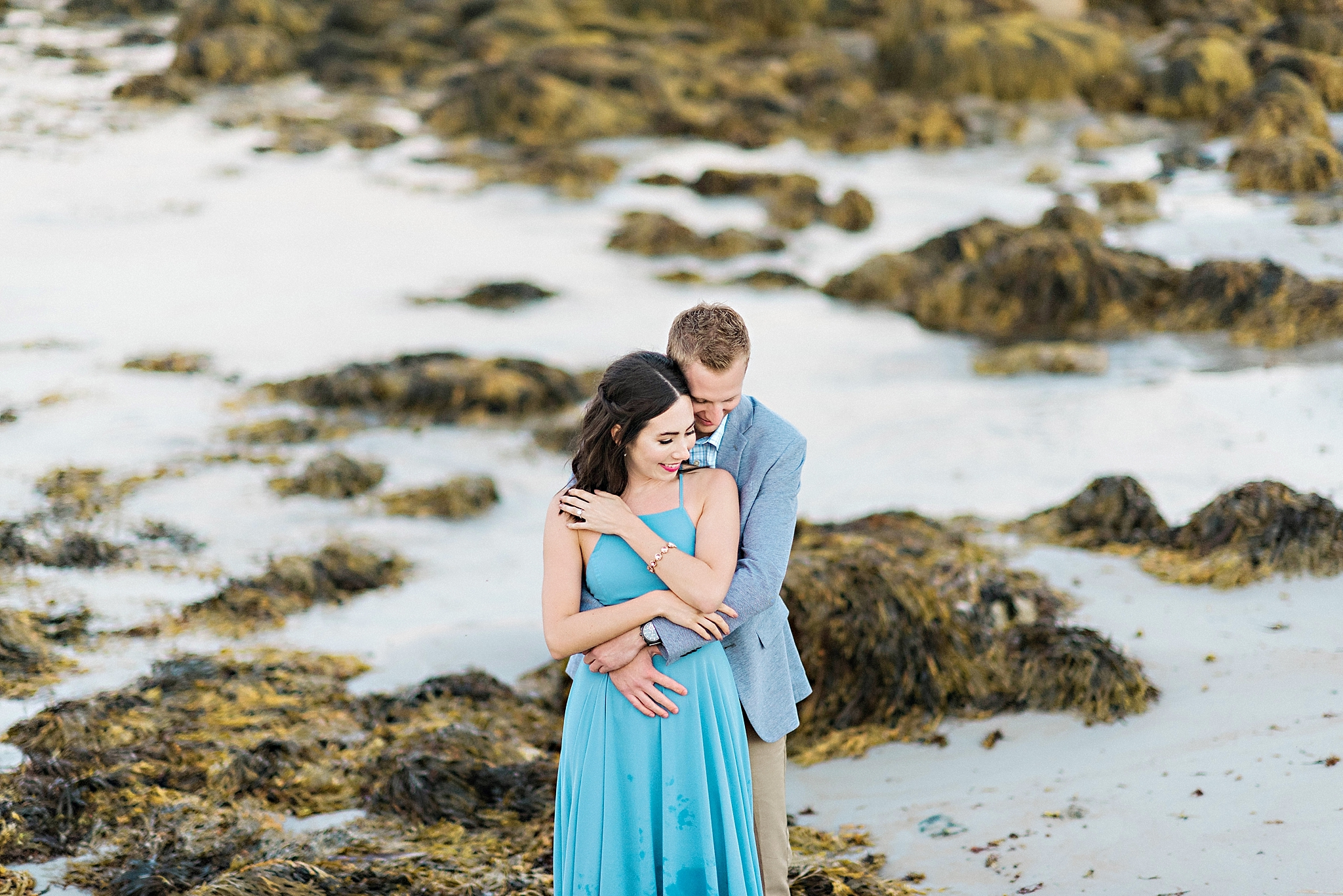 Romantic Seaside Beach Engagement Shoot in Lulu's long flowy maxy dress_041.jpg