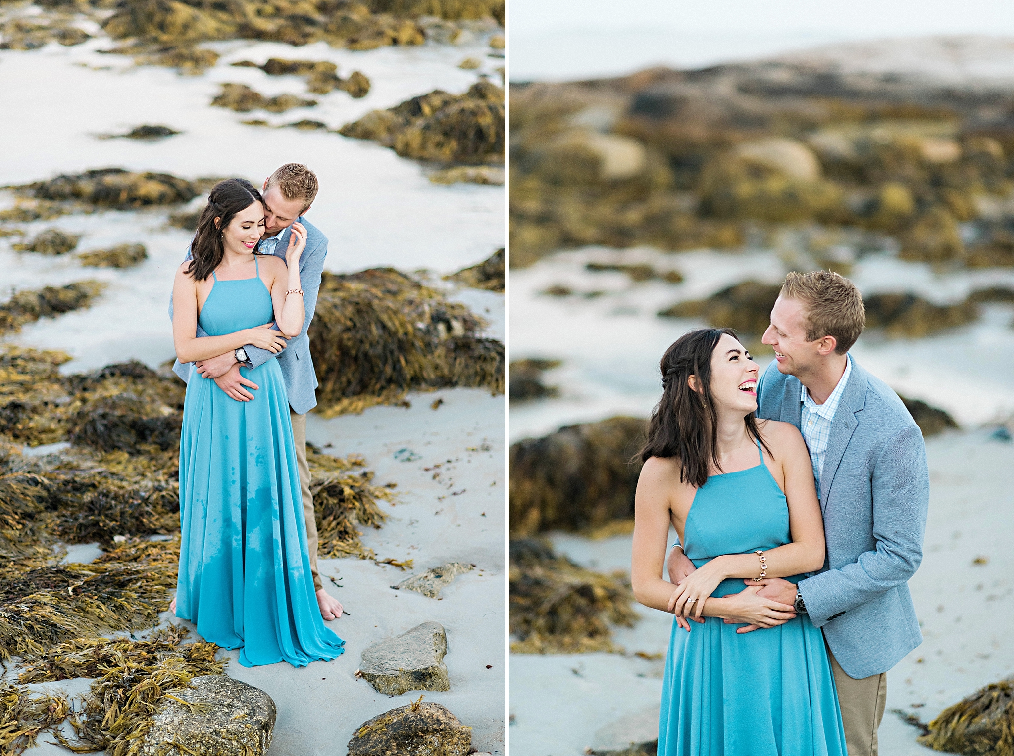 Romantic Seaside Beach Engagement Shoot in Lulu's long flowy maxy dress_042.jpg