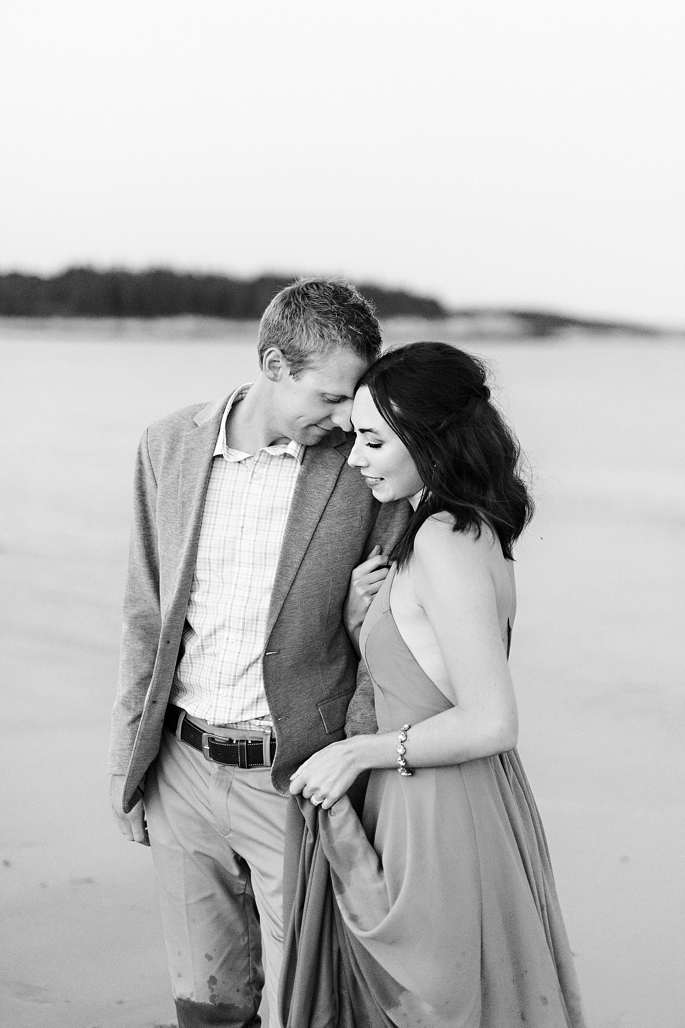 Romantic Seaside Beach Engagement Shoot in Lulu's long flowy maxy dress_046.jpg