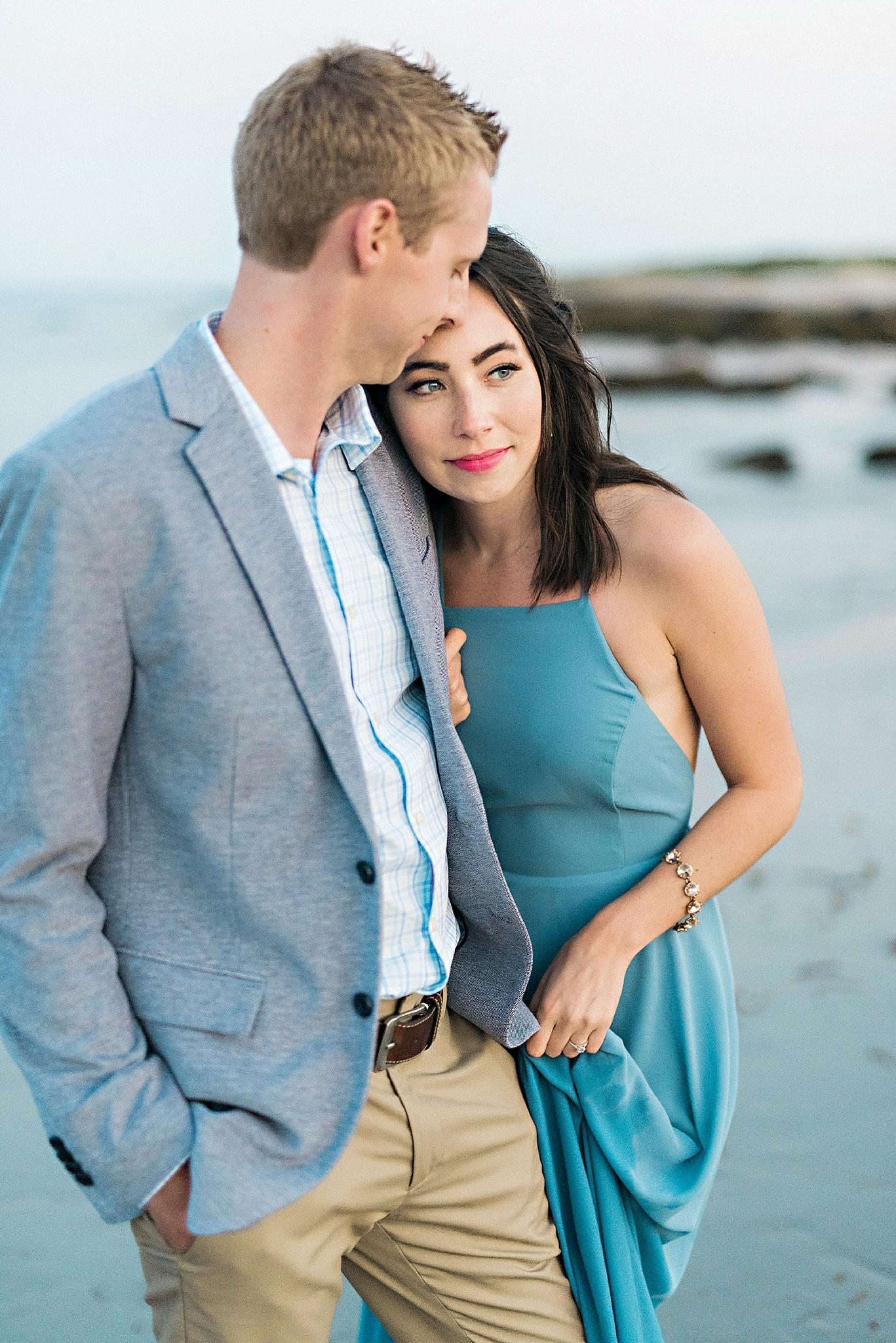 Romantic Seaside Beach Engagement Shoot in Lulu's long flowy maxy dress_048.jpg