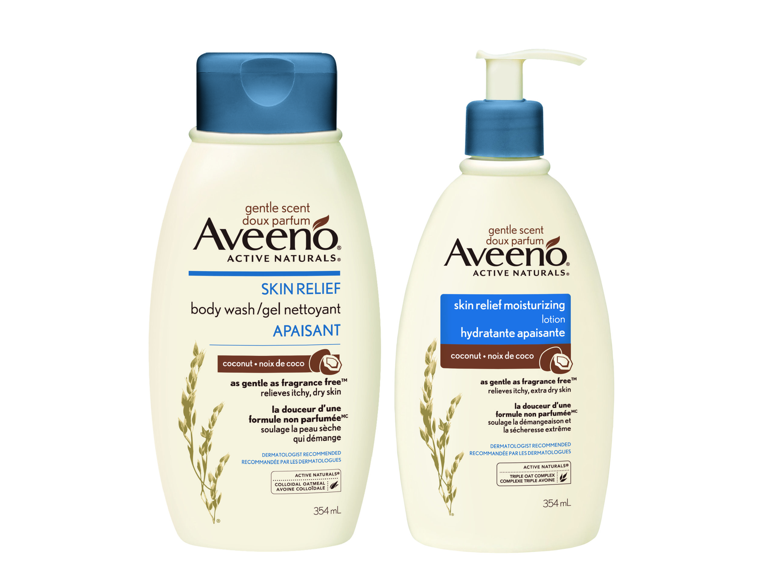 Aveeno Skin Relief Gentle Scent Coconut Lotion and Body Wash