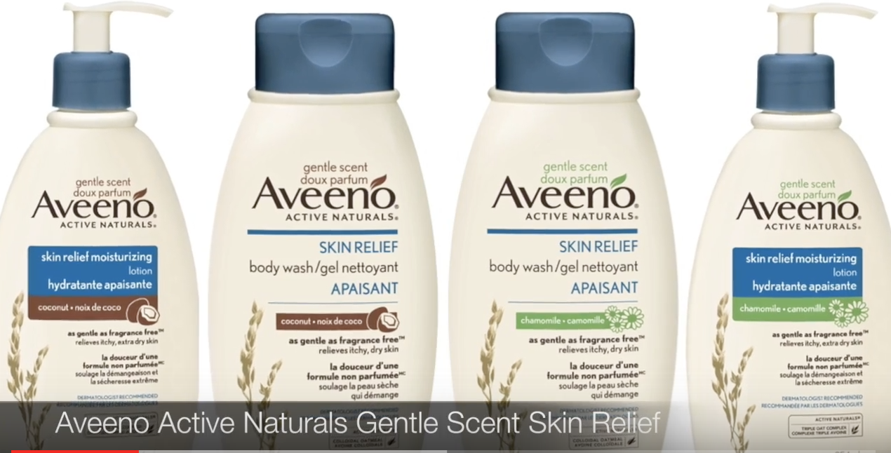 Smells Amazing!!! Aveeno Skin Relief Gentle Scent Coconut Lotion and Body Wash Review