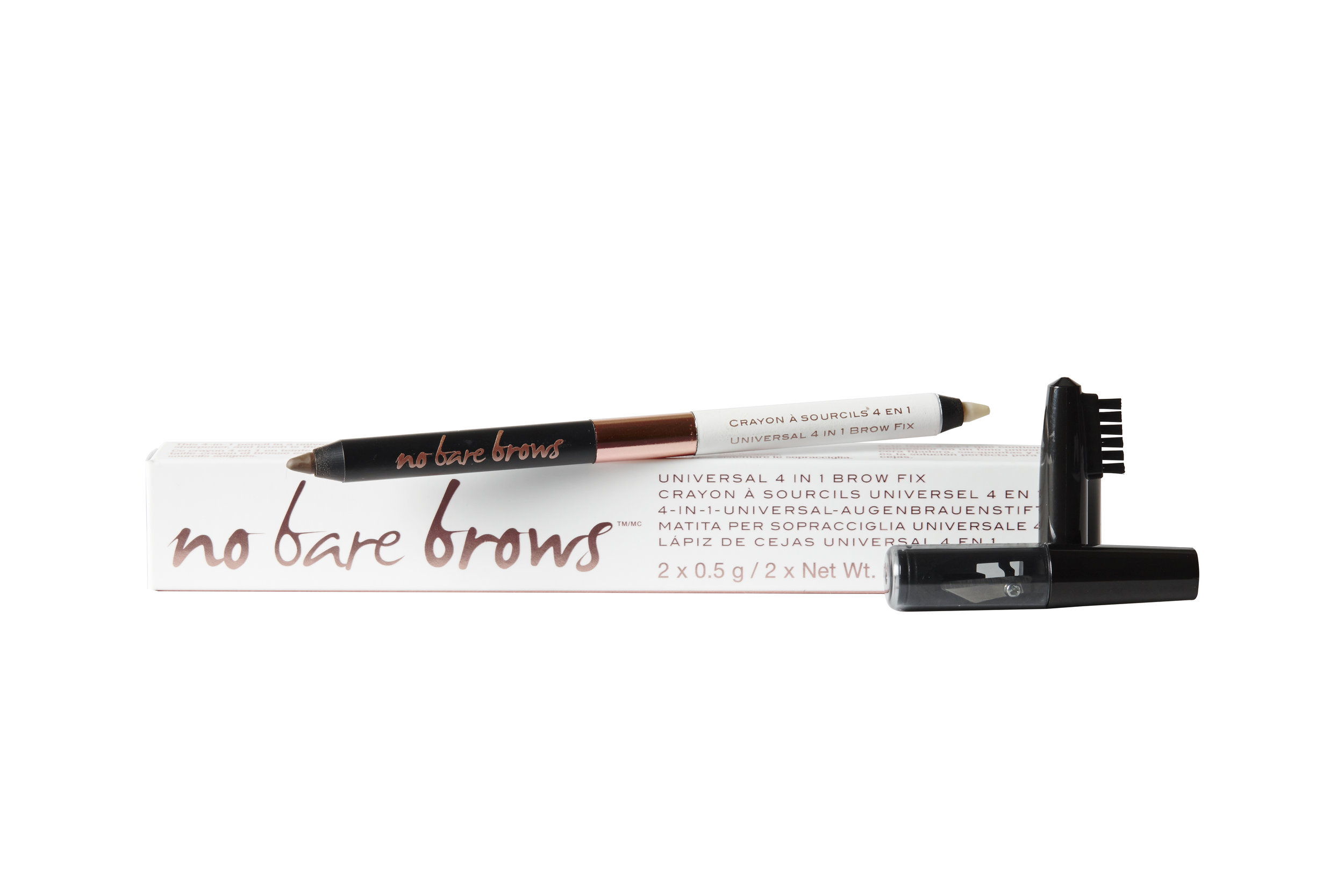 KNOW Cosmetics No Bare Brows - Universal 4-in-1 Brow Fix $24.00. Available at Shoppers Drug Mart; knowcosmetics.com.