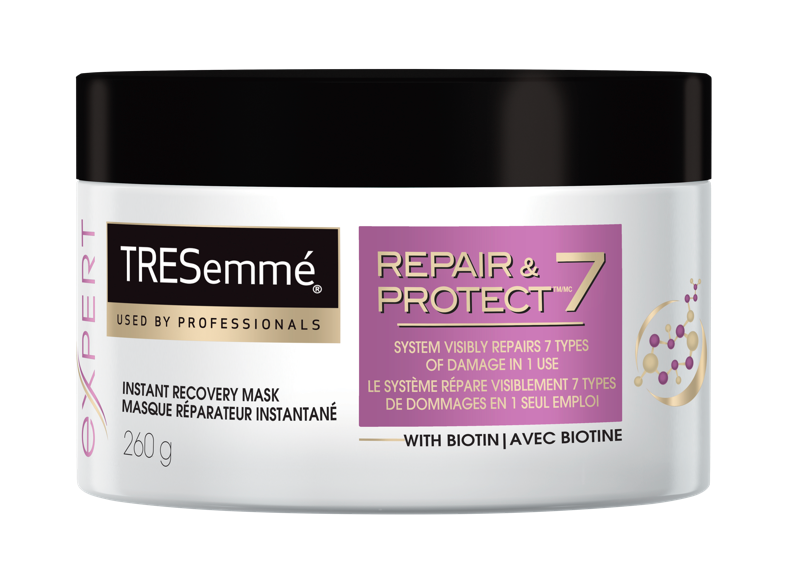 TRESEMMÉ  Repair and Protect 7 Shampoo, Conditioner, Styling Spray and Mask, $6.99 each. Available at mass drug and grocery stores across Canada