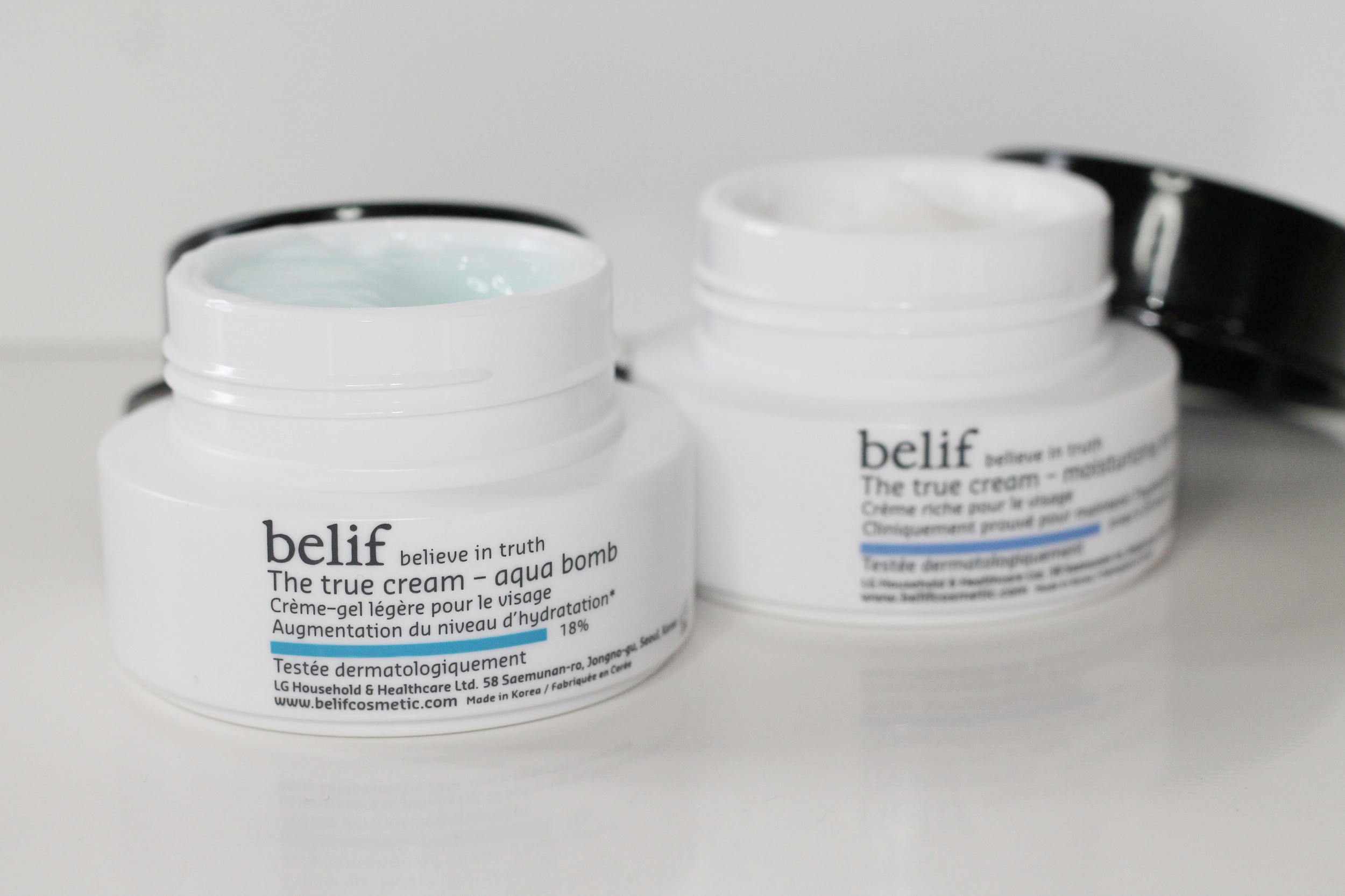 belif The True Cream Aqua Bomb, $47 (left)  b elif The True Cream Moisturizing Bomb, $47 (right)  Photography: Marrin Hicks Creative