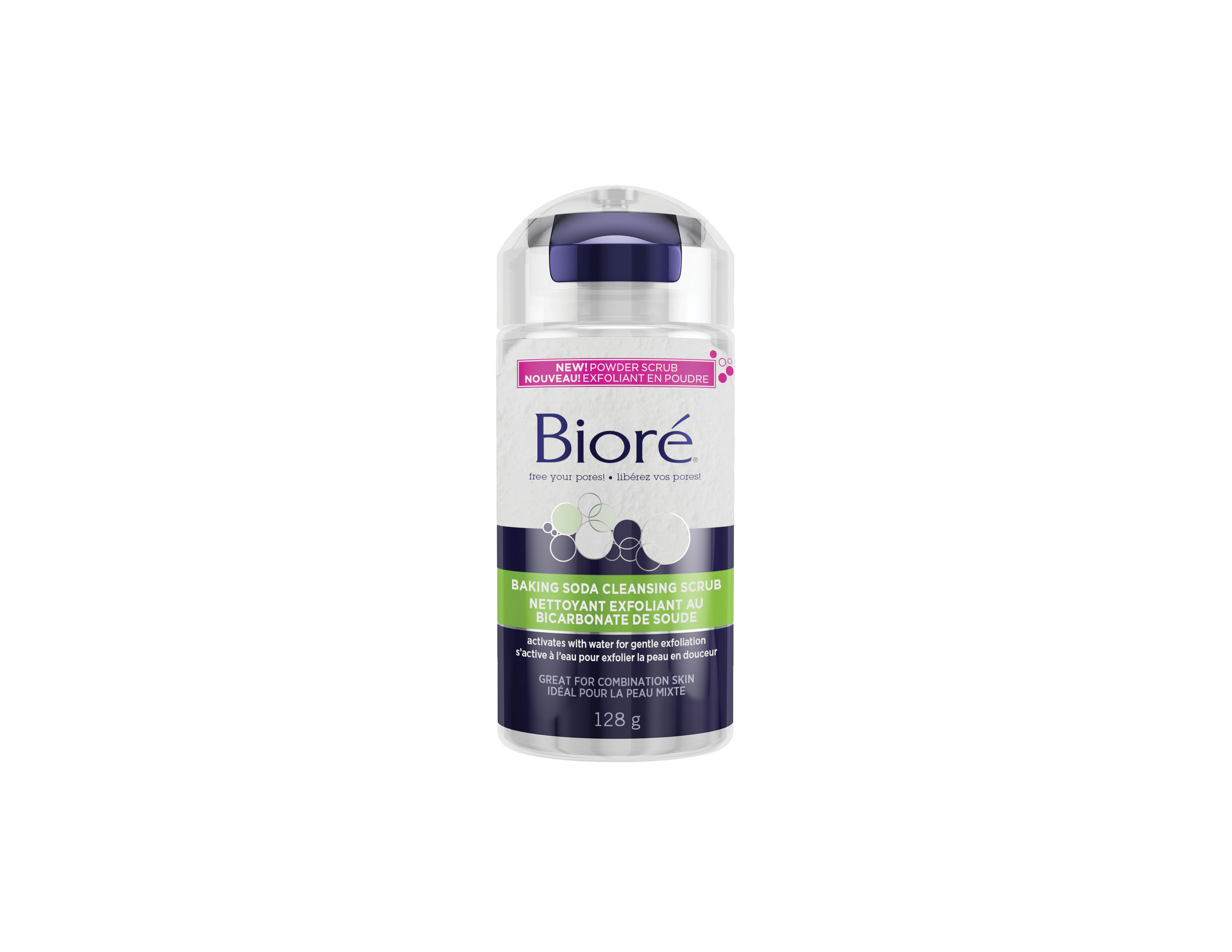 Biore Baking Soda Cleansing Scrub, $15.99. Available at select food, drug and mass retailers.